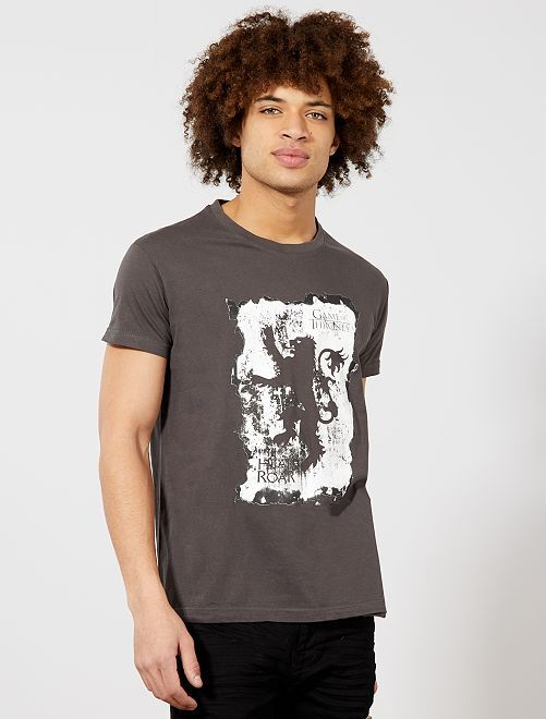 Camiseta estampada 'Juego de Tronos'                             gris Hombre