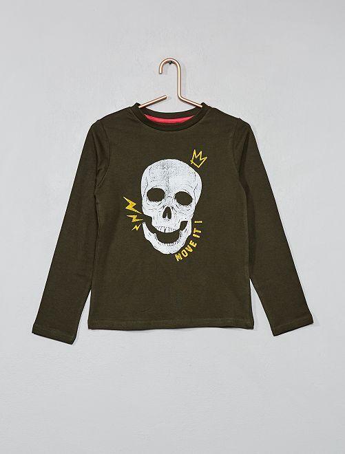 Camiseta estampada                                                                                                                 KAKI Chico