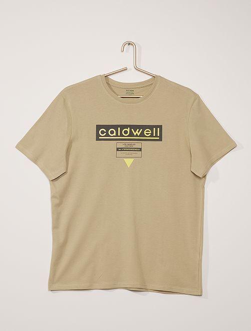 Camiseta estampada                                                                                         KAKI