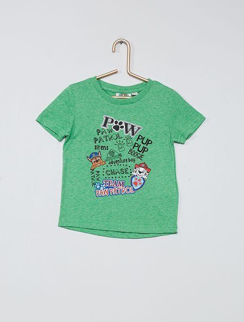 Camiseta estampada 'La Patrulla Canina'                                                     VERDE