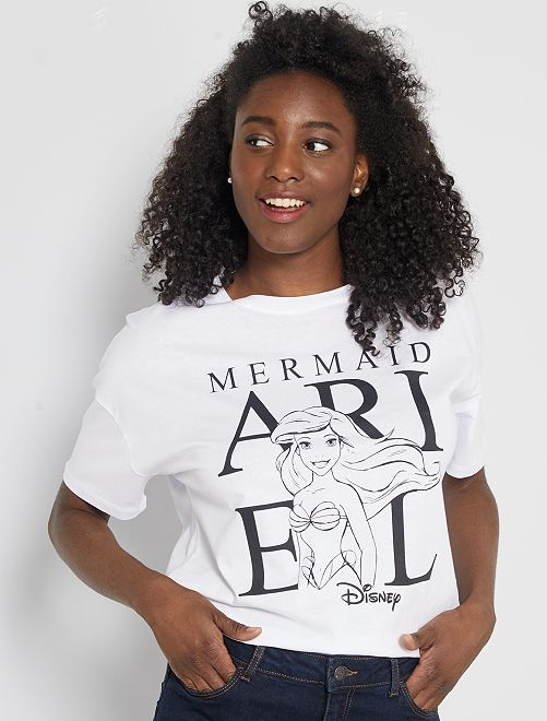 Camiseta estampada 'La sirenita'                                                                                                                                         BLANCO
