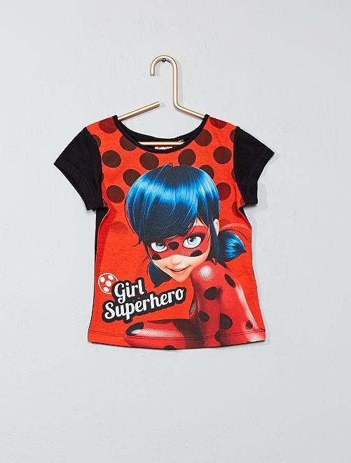 Camiseta estampada 'Ladybug'                                                     negro Chica