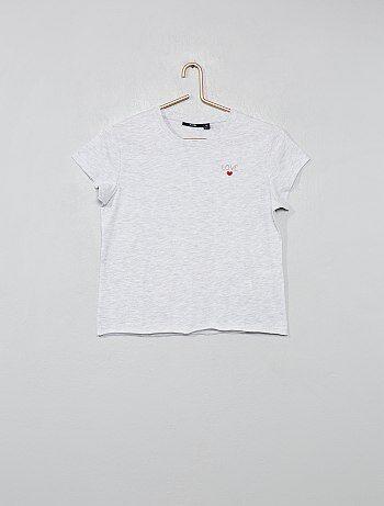 9aed545362b Niña 10-18 años - Camiseta estampada  Love  - Kiabi