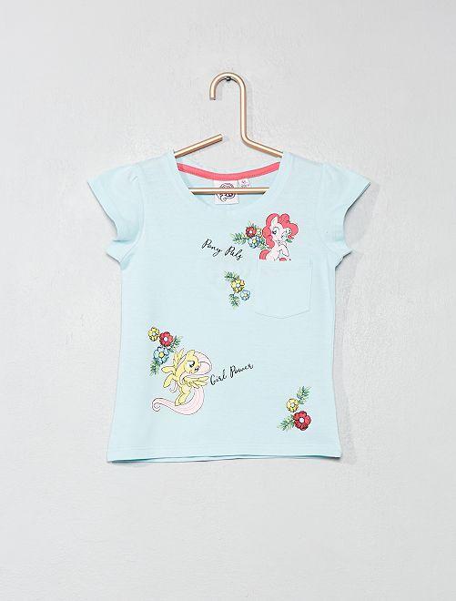 Camiseta estampada 'Mi pequeño poni'                             verde Chica