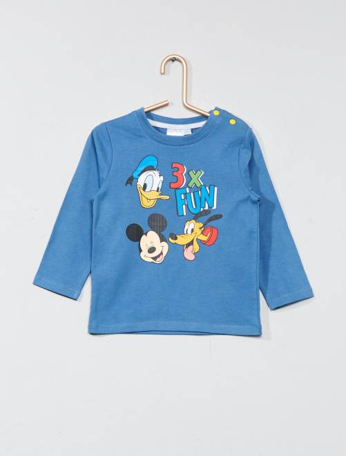 Camiseta estampada 'Mickey'                                 azul Bebé niño