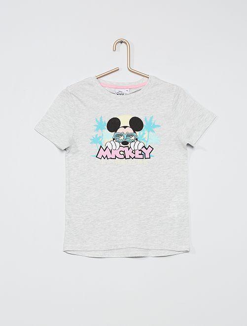 Camiseta estampada 'Mickey'                             GRIS