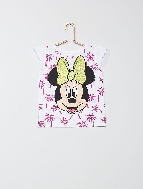 Camiseta estampada 'Minnie'                                         blanco