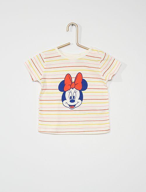 Camiseta estampada 'Minnie'                             crudo