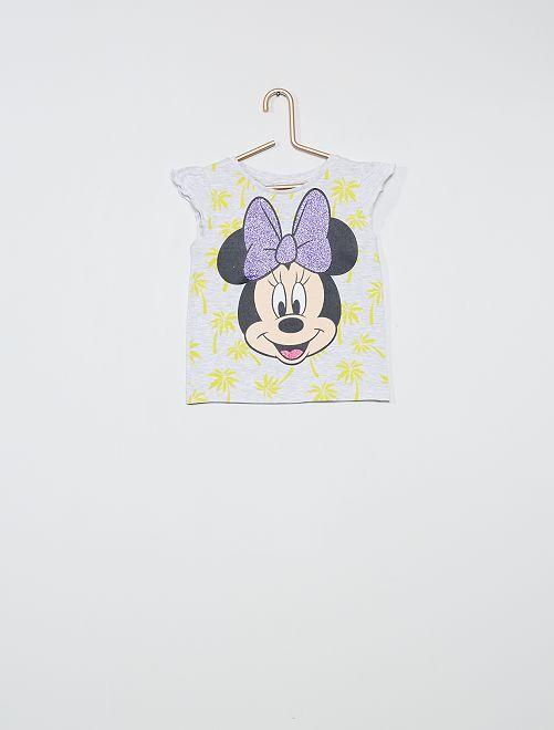 Camiseta estampada 'Minnie'                                         gris