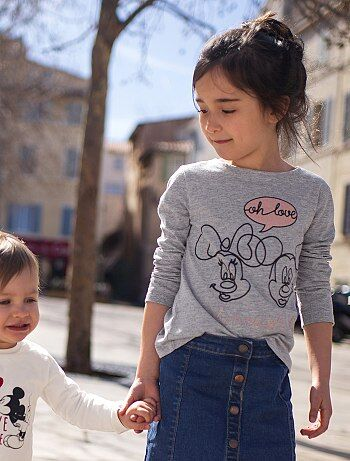 Camiseta estampada 'Minnie & Mickey' - Kiabi