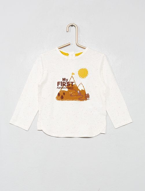 Camiseta estampada 'Montaña'                             BLANCO