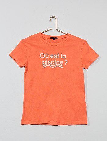 613784a9e Niña 10-18 años - Camiseta estampada - Kiabi