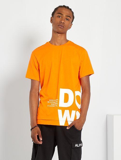 Camiseta estampada                                                     naranja