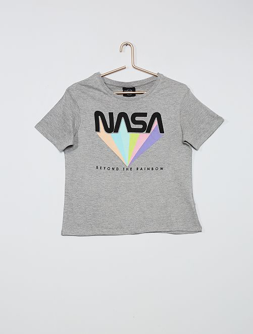Camiseta estampada 'Nasa'                             GRIS