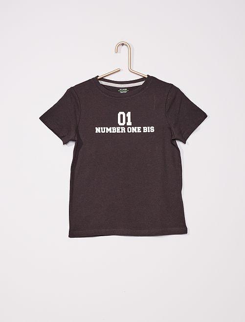 Camiseta estampada                                                                                         NEGRO