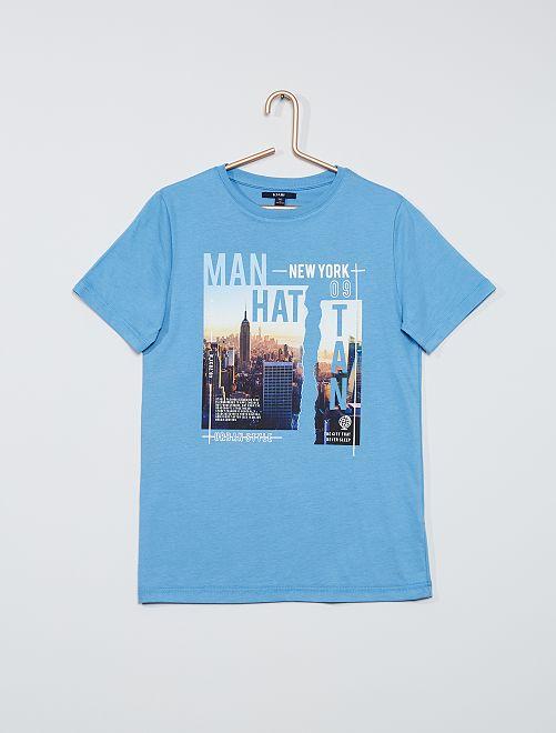Camiseta estampada 'Nueva York'                             AZUL