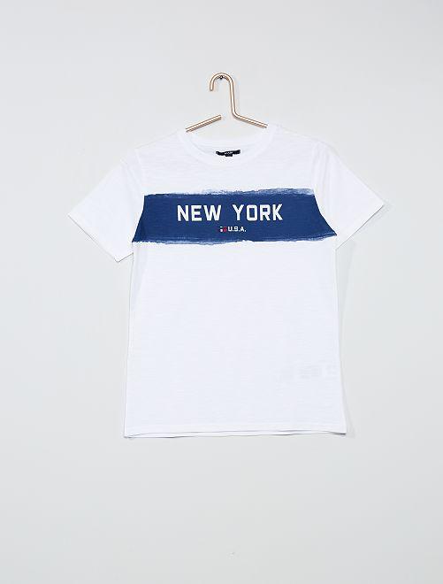 Camiseta estampada 'Nueva York'                                                     BLANCO