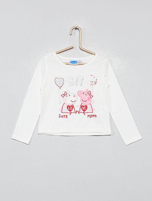 Camiseta estampada 'Peppa Pig'                             blanco nieve