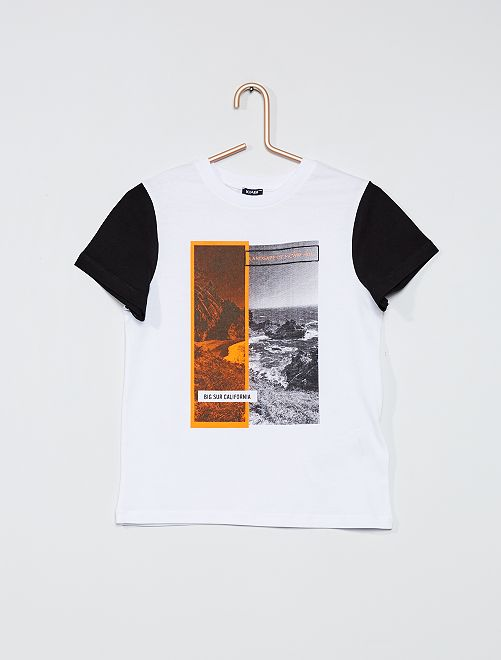 Camiseta estampada photoprint                                         blanco