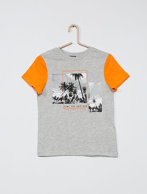 Camiseta estampada photoprint                                         gris