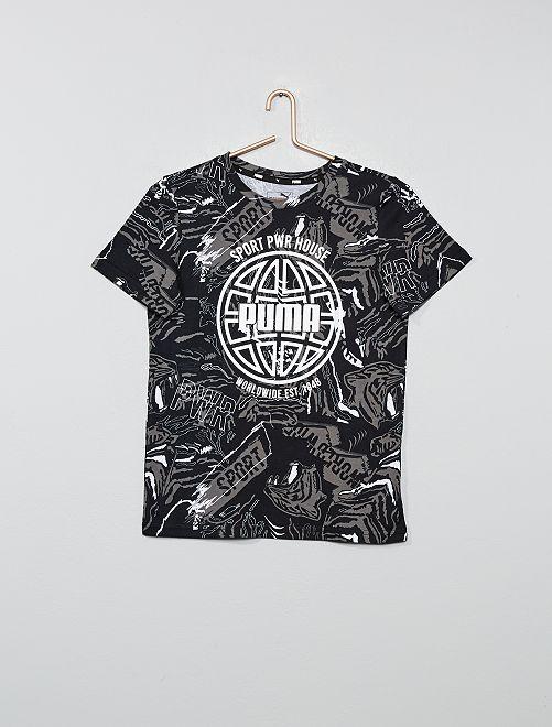 Camiseta estampada 'Puma'                             NEGRO