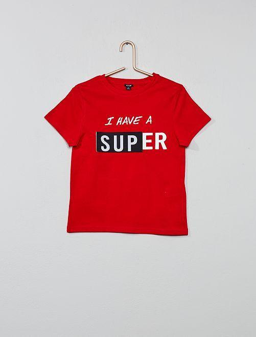 Camiseta estampada                                         ROJO Chico