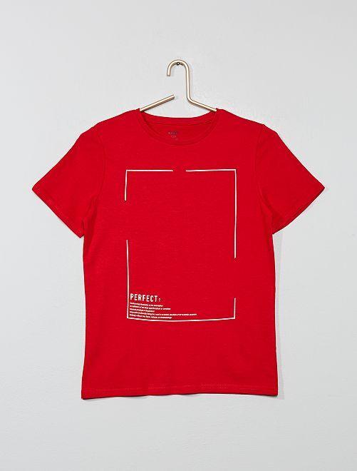 Camiseta estampada                                                                                                     ROJO Joven niño