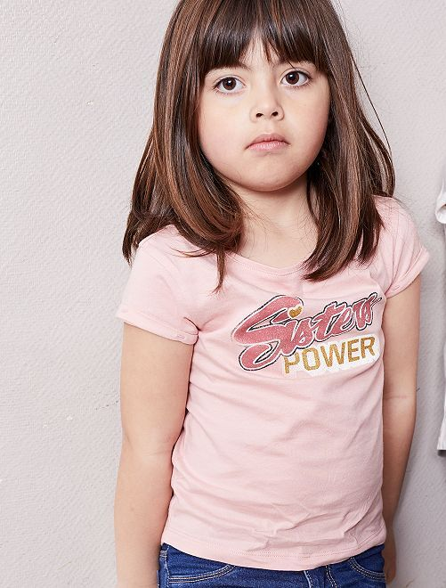 Camiseta estampada                                             ROSA