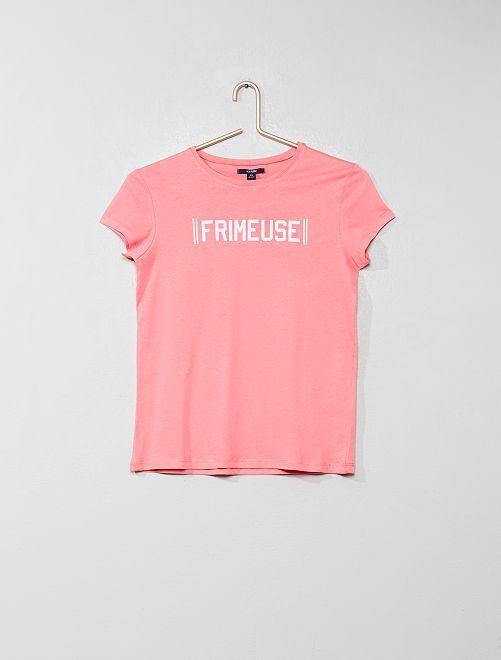 Camiseta estampada                                                                 ROSA Joven niña