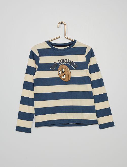 Camiseta estampada 'rugby'                                                                                                                                                     BLANCO