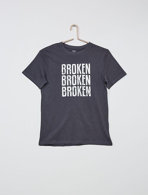 Camiseta estampada 'skate'                                                                             GRIS