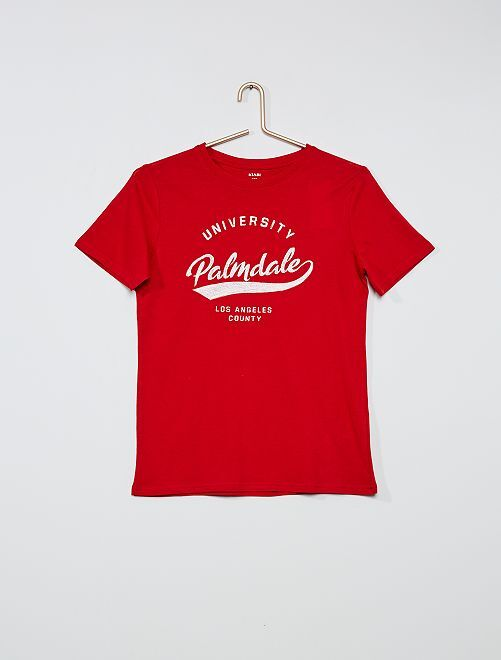 Camiseta estampada 'skate'                                                                                                     ROJO