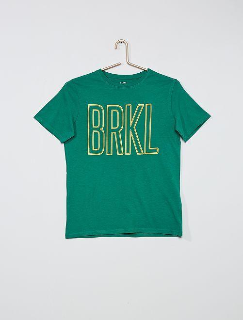 Camiseta estampada 'skate'                                                                                                                 VERDE