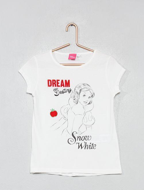 Camiseta estampada 'Snow white'                                                                             BLANCO Chica