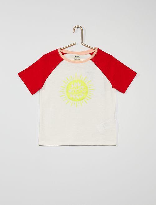 Camiseta estampada 'sol'                                         AMARILLO