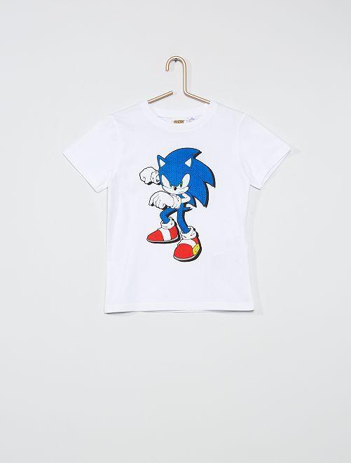 Camiseta estampada 'Sonic'                     BLANCO