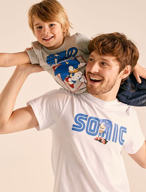 Camiseta estampada 'Sonic'                             blanco Hombre