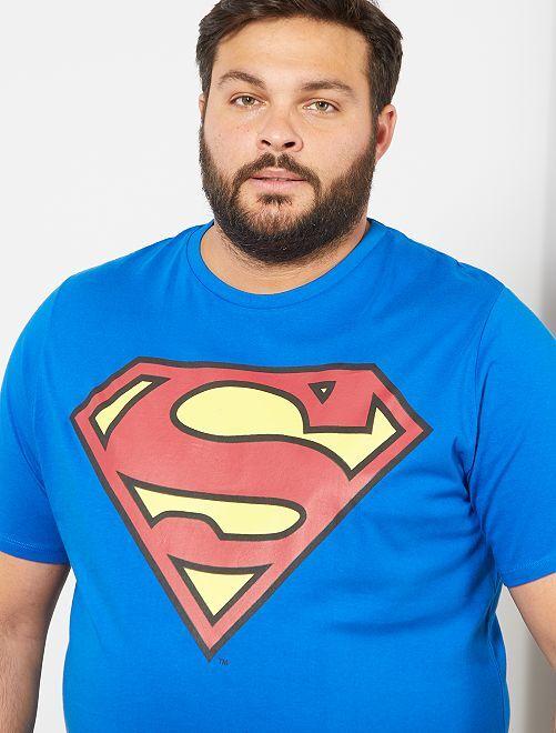Camiseta estampada 'Superman'                             azul