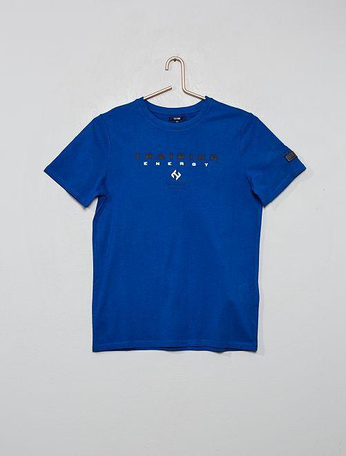 Camiseta estampada 'Training Energy'                                                     AZUL
