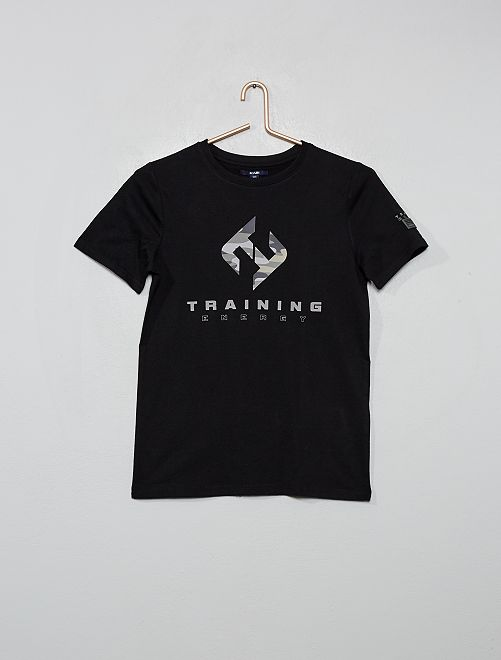 Camiseta estampada 'Training Energy'                                                     NEGRO