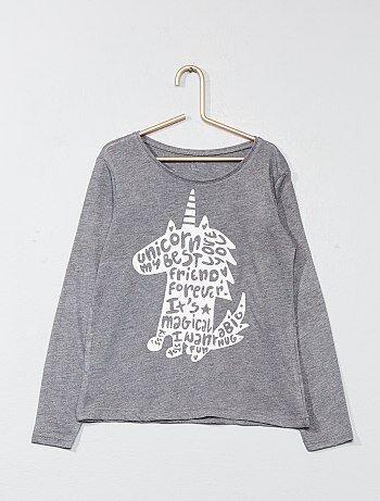 Camiseta estampada 'unicornio' - Kiabi