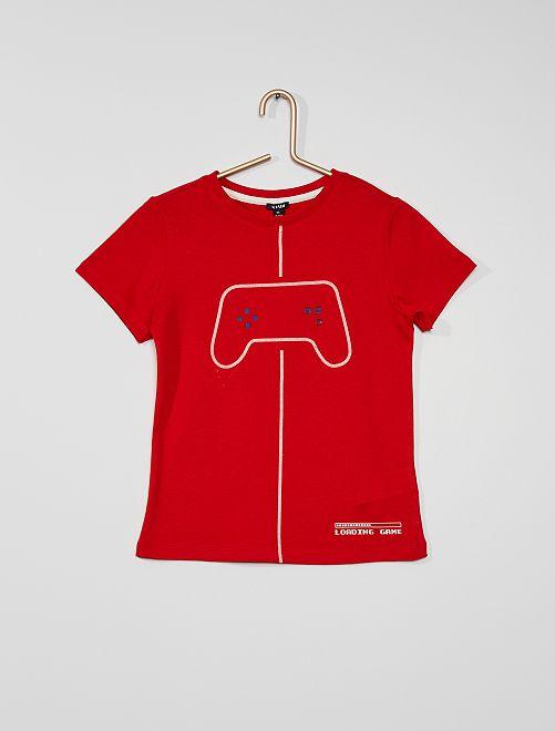 Camiseta estampada 'videojuegos'                                                     ROJO