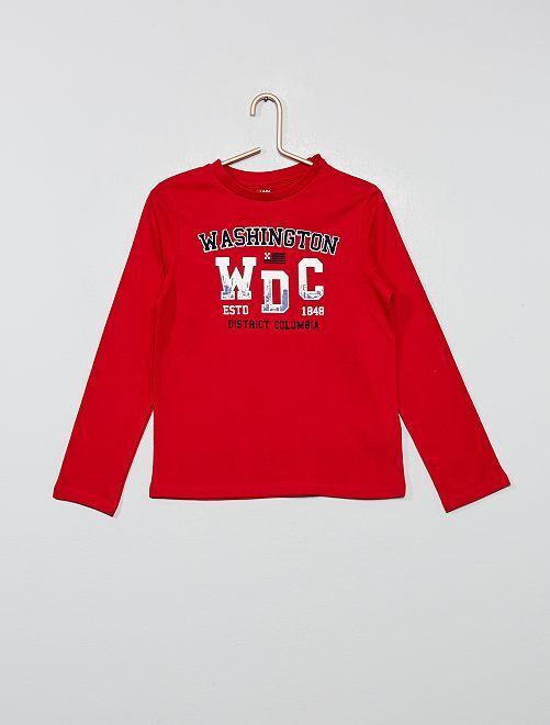 Camiseta estampada 'Washington'                                                                             ROJO