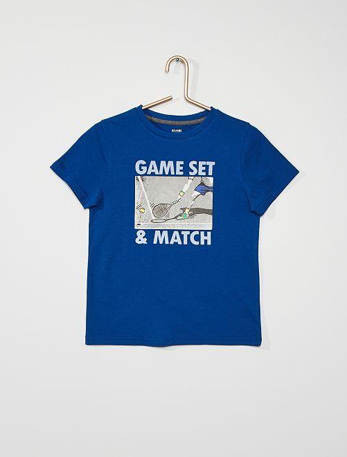 Camiseta estampado deportivo                                                                 AZUL