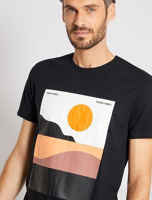 Camiseta estampado gráfico                                                                 NEGRO