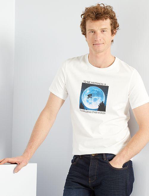 Camiseta 'E.T., el extraterrestre' eco-concepción                             BLANCO