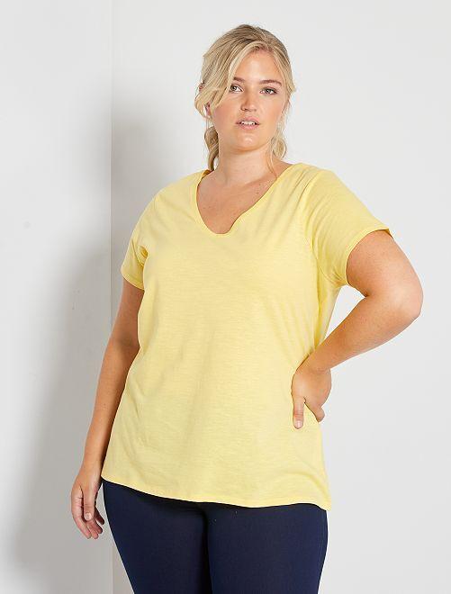 Camiseta flameada 'eco-concepción'                                                                             amarillo mimosa