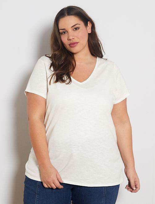 Camiseta flameada 'eco-concepción'                                                                     blanco nieve