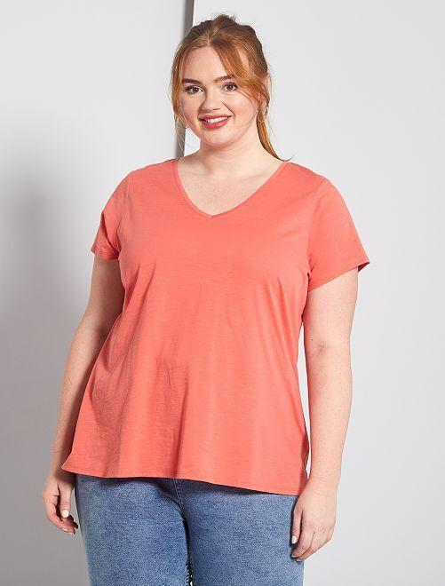 Camiseta flameada 'eco-concepción'                                                                             rosa naranja