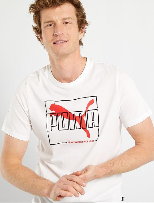 Camiseta flocada 'Puma'                             BEIGE